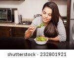 cute young brunette having a... | Shutterstock . vector #232801921