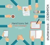 flat design of hand icons set.... | Shutterstock .eps vector #232804924