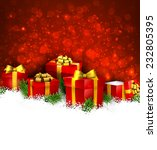 abstract christmas background... | Shutterstock .eps vector #232805395