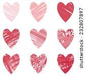 heart vector set handraw 9... | Shutterstock .eps vector #232807897