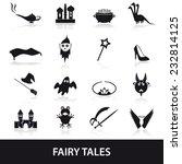 black simple fairy tales theme... | Shutterstock .eps vector #232814125