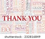 thank you word cloud vector... | Shutterstock .eps vector #232816849