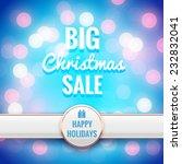 christmas sale background.... | Shutterstock .eps vector #232832041