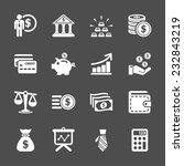 finance icon set  vector eps10. | Shutterstock .eps vector #232843219