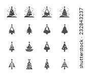 christmas tree icon set 3 ... | Shutterstock .eps vector #232843237