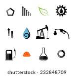 oil industry. icon set. flat.... | Shutterstock .eps vector #232848709