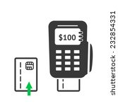 simple pos terminal logo icon.... | Shutterstock .eps vector #232854331
