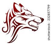 wolf head tattoo | Shutterstock .eps vector #232857799