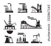 vector black factory icons set... | Shutterstock .eps vector #232867165
