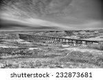 Long Railway Trestle Through A...