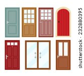 front doors to houses and... | Shutterstock .eps vector #232880395