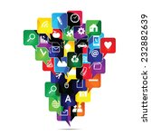 colorful social media icons in... | Shutterstock .eps vector #232882639