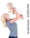 mother with baby isolated on... | Shutterstock . vector #232891405