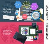 flat design concept of program... | Shutterstock .eps vector #232891924