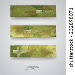 set of abstract banner with... | Shutterstock .eps vector #232898071