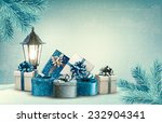 christmas background with a...   Shutterstock .eps vector #232904341