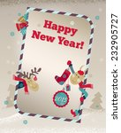 2015 happy new year greeting... | Shutterstock .eps vector #232905727