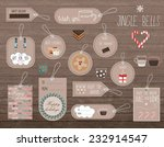 set of flat winter holidays and ... | Shutterstock .eps vector #232914547