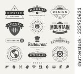 retro vintage insignias or... | Shutterstock .eps vector #232920631