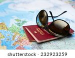 travel concept  two passports... | Shutterstock . vector #232923259