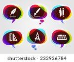 school supplies on multi color... | Shutterstock .eps vector #232926784