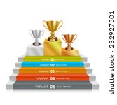 step winner cup  gold  silver... | Shutterstock .eps vector #232927501
