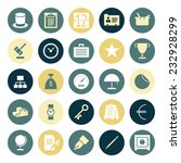flat design icons for business.