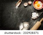 baking cake ingredients. bowl ... | Shutterstock . vector #232928371
