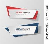 vector infographic origami... | Shutterstock .eps vector #232933501