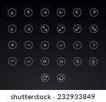 thin line arrows icon set | Shutterstock .eps vector #232933849