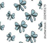 blue bow vector seamless...   Shutterstock .eps vector #232935175