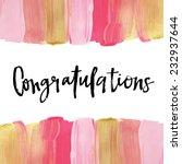 congratulations calligraphy... | Shutterstock .eps vector #232937644