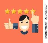satisfied customers concept.... | Shutterstock .eps vector #232938967