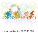 group of cyclist in the bicycle ...   Shutterstock .eps vector #232941037