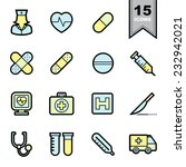 healthcare icons set... | Shutterstock .eps vector #232942021