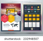 vector business flyer template. ... | Shutterstock .eps vector #232948507