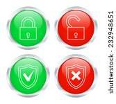 set of protection buttons. 2d...
