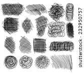 set of hand drawn lines... | Shutterstock .eps vector #232950757