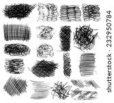 vector set of ink lines  set of ... | Shutterstock .eps vector #232950784