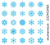 Snowflake Set For Winter Desig...