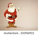 santa claus showing in empty... | Shutterstock .eps vector #232960921