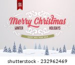 vintage christmas greeting card ... | Shutterstock .eps vector #232962469