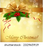 christmas greeting card with... | Shutterstock .eps vector #232965919
