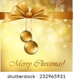christmas greeting card with... | Shutterstock .eps vector #232965931