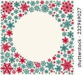 christmas snowflakes vector... | Shutterstock .eps vector #232969027