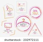 minimal line design shopping... | Shutterstock .eps vector #232972111