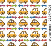seamless pattern with car in... | Shutterstock .eps vector #232974805