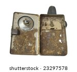 old metal flashlight of... | Shutterstock . vector #23297578