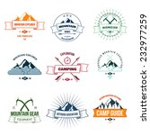 camping mountain adventure... | Shutterstock .eps vector #232977259