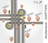 road   street with map pointer  ... | Shutterstock .eps vector #232977391